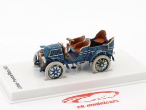 Lohner - Porsche Mixte auto anno di costruzione 1901 blu 1:43 Porsche Museum