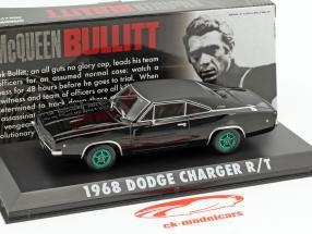 Dodge Charger R / T Steve McQueen film Bullitt (1968) noir / vert jantes 1:43 Greenlight