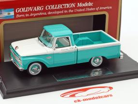 Ford F-100 Pick-Up year 1965 turquoise / white 1:43 Goldvarg