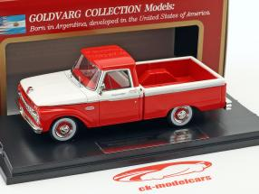 Ford F-100 Pick-Up Baujahr 1965 rot / weiß 1:43 Goldvarg