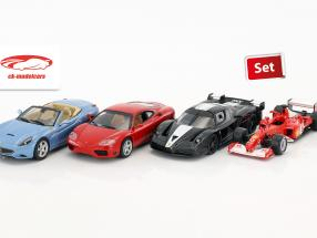 Ferrari 4-Car Set: Ferrari 360 Modena, California, FXX, F2002 jeweils in Blister 1:43 Altaya