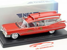 Cadillac Superior Rescuer Ambulance année de construction 1959 rouge 1:43 Neo