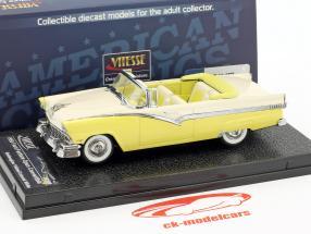 Ford Fairlane aperto convertibile anno di costruzione 1956 giallo / bianco 1:43 Vitesse