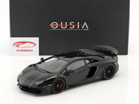 Lamborghini Aventador LP 750-4 SV year 2015 black 1:18 Kyosho
