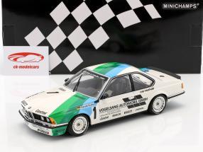 BMW 635 CSi #1 vincitore Bergischer Löwe Zolder 1984 Harald Grohs 1:18 Minichamps