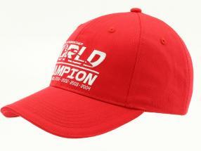 Michael Schumacher chapeau World Champion rouge