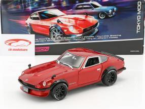 Datsun 240Z año de construcción 1971 Tokyo Mod rojo metálico 1:18 Maisto