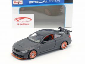 BMW M4 GTS tappetino nero con arancione cerchioni 1:24 Maisto