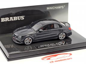 Brabus 600 based on Mercedes-Benz AMG C 63 S year 2015 black 1:43 Minichamps