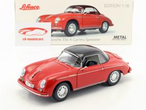 Porsche 356 A Carrera Speedster 70 Jahre Porsche rot / schwarz 1:18 Schuco