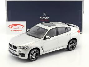BMW X6 M year 2015 silver metallic 1:18 Norev