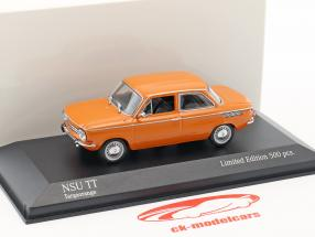 NSU TT année de construction 1968 orange 1:43 Minichamps