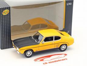 Ford Capri RS Baujahr 1970 gelb / schwarz 1:43 Cararama