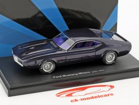 Ford Mustang Milano USA year 1970 dark purple 1:43 AutoCult