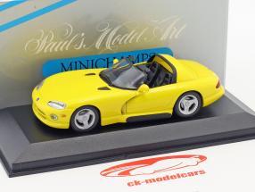 Dodge Viper Cabriolet jaune 1:43 Minichamps