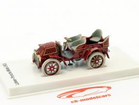 Lohner - Porsche Mixte carro ano de construção 1901 vermelho-castanho 1:43 Porsche Museum