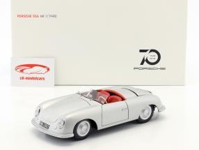 Porsche 356 Nr.1 año de construcción 1948 edición 70 años Porsche plata 1:18 AUTOart