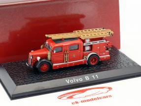 Volvo B 11 pompiers année de construction 1965 rouge 1:72 Atlas