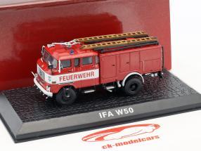 IFA W50 pompiers TLF 16 année de construction 1968 rouge 1:72 Atlas