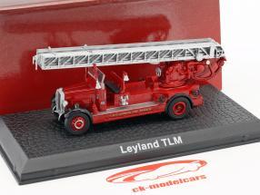 Leyland TLM pompiers Londres année de construction 1935 rouge 1:72 Atlas