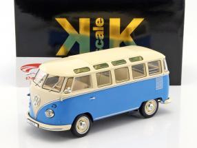 Volkswagen VW Bulli T1 Samba year 1962 blue / cream 1:18 KK-Scale