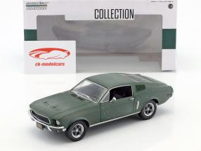 Ford Mustang GT Fastback unrestored Steve McQueen film Bullitt (1968) verde 1:24 Greenlight