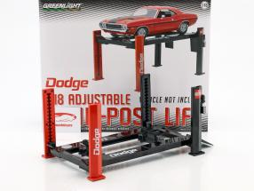 réglable quatre courrier hydraulique rampe Dodge rouge / noir pour modèle voitures en 1:18 Greenlight