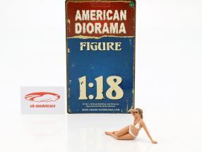 calendário menina Junho em bikini 1:18 American Diorama