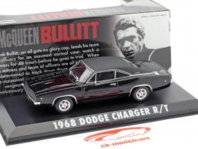 Dodge Charger R / T Steve McQueen Film Bullitt (1968) nero 1:43 Greenlight