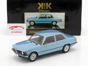 BMW 318i E21 ano 1975 luz azul metálico 1:18 KK-Scale