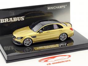 Brabus 600 baserede på Mercedes-Benz AMG C 63 S Opførselsår 2015 guld metallisk 1:43 Minichamps