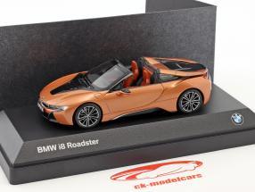 BMW i8 Roadster Bouwjaar 2018 koperen metalen / zwart 1:43 Minichamps