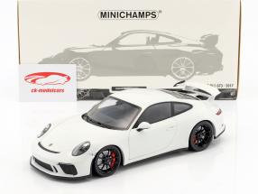 Porsche 911 (991 II) GT3 year 2017 white 1:18 Minichamps