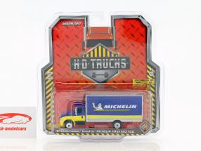 International DuraStar Box Van Michelin année de construction 2013 bleu / jaune 1:64 Greenlight