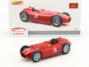 Peter Collins Ferrari D50 #14 Vinder fransk GP formel 1 1956 1:18 CMC