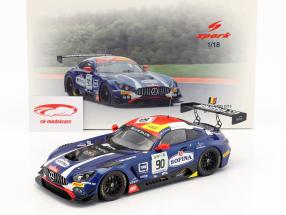 Mercedes-Benz AMG GT3 #90 3rd 24h Spa 2017 Mortara, Meadows, Marciello 1:18 Spark