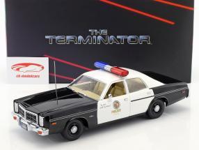Dodge Monaco Metropolitan Police year 1977 Movie Terminator (1984) with T-800 figure 1:18 Greenlight