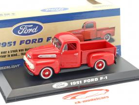 Ford F-1 Pick-Up year 1951 red 1:43 Greenlight