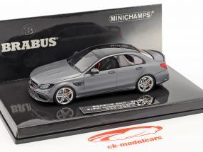 Brabus 600 basato su Mercedes-Benz AMG C 63 S anno di costruzione 2015 tappetino grigio metallico 1:43 Minichamps