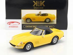 Ferrari 275 GTB4 NART Spyder mit Speichenfelgen Baujahr 1967 gelb 1:18 KK-Scale