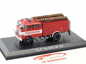 IFA W 50 TLF 16 brandweer rood 1:72 Altaya