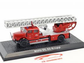 Krupp DL 52 Metz fire Department red 1:72 Altaya