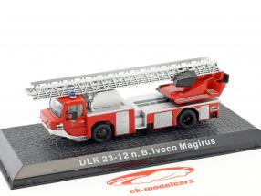 Iveco Magirus DLK 23-12 N.B. Bouwjaar 1980 brandweer Kaufering rood 1:72 Altaya