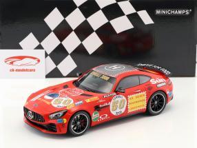 Mercedes-Benz AMG GT-R #50 Anno di costruzione 2017 Rosso seminare 1:18 Minichamps