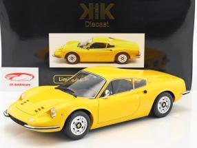 Ferrari 246 GT Dino year 1973 yellow 1:12 KK-Scale