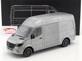 Mercedes-Benz sprinter van year 2018 Rugged Edition silver / gray 1:18 Norev