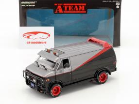 B.A.'s GMC Vandura Bouwjaar 1983 tv-serie The A-Team (1983-87) zwart / rood / grijs 1:24 Greenlight