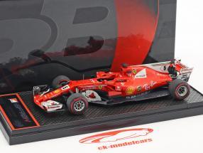 Sebastian Vettel Ferrari SF70H #5 ganador brasileño GP fórmula 1 2017 1:43 BBR