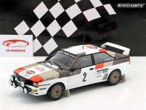 Audi Quattro A1 #2 cuarto Rallye Monte Carlo 1983 Mikkola, Hertz 1:18 Minichamps