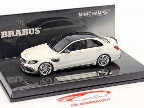 Brabus 600 basé sur Mercedes-Benz AMG C 63 S année de construction 2015 blanc 1:43 Minichamps